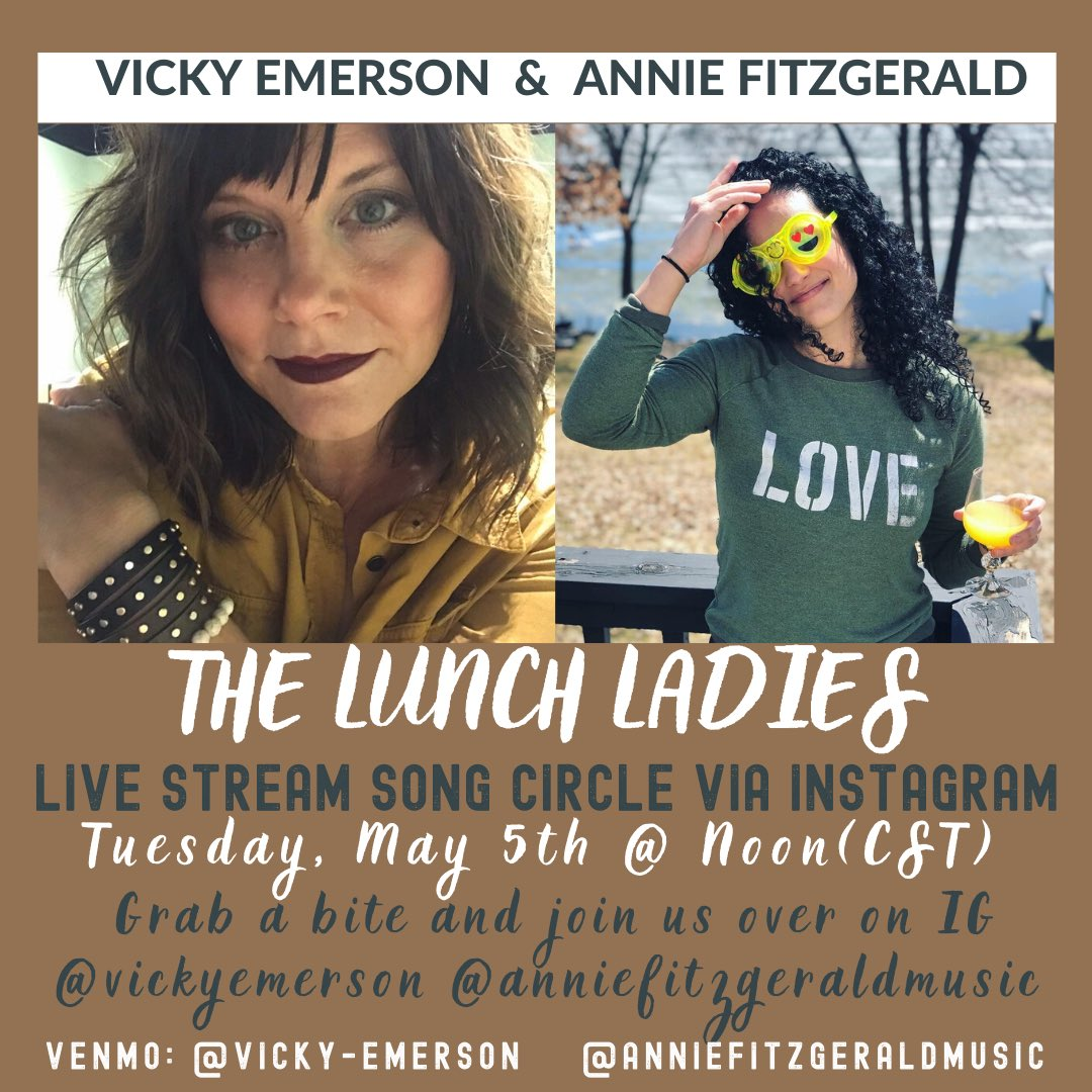 🍜 🌮 Lunch Ladies are back on Insta Live today at 12pm CST! Grab a bite and join us! See you soon @anniefitzgeraldmusic 😘  #lunchladies #weareback #whoishavingtacos #cincodemayo https://t.co/I0HcOTVl5F