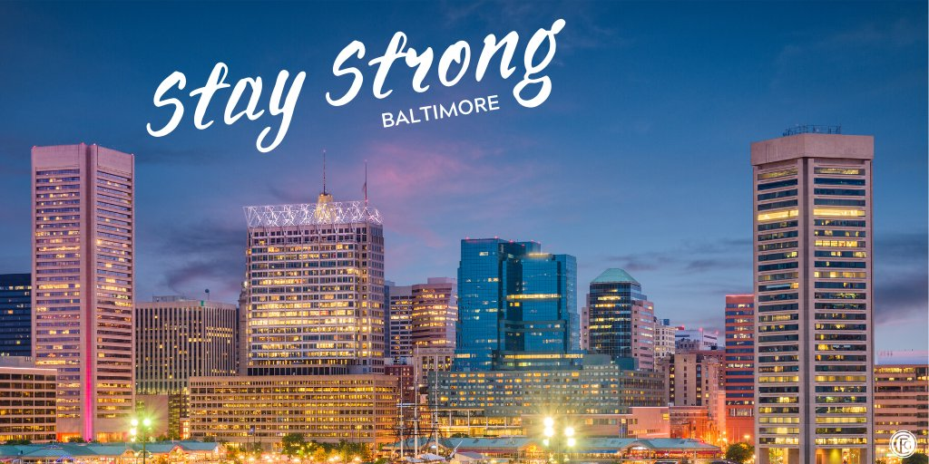 We can do this. Stay strong, Baltimore.