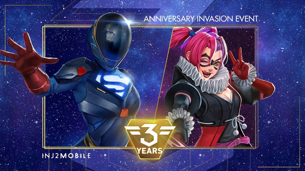 Injustice 2 Mobile On Twitter It Has Begun Multiverse Armored Supergirl Returns Batman Ninja Harley Quinn Invades Arena Inj2mobile 3yearanniversary Https T Co Gxmvrr43s3