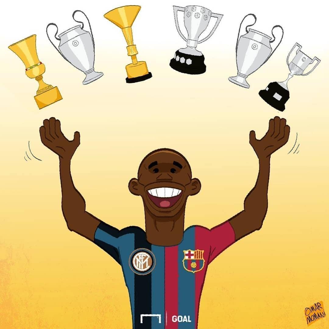 Triplete con @FCBarcelona ✅ Triplete con el @Inter ✅ @setoo9 es una LEYENDA del ⚽
