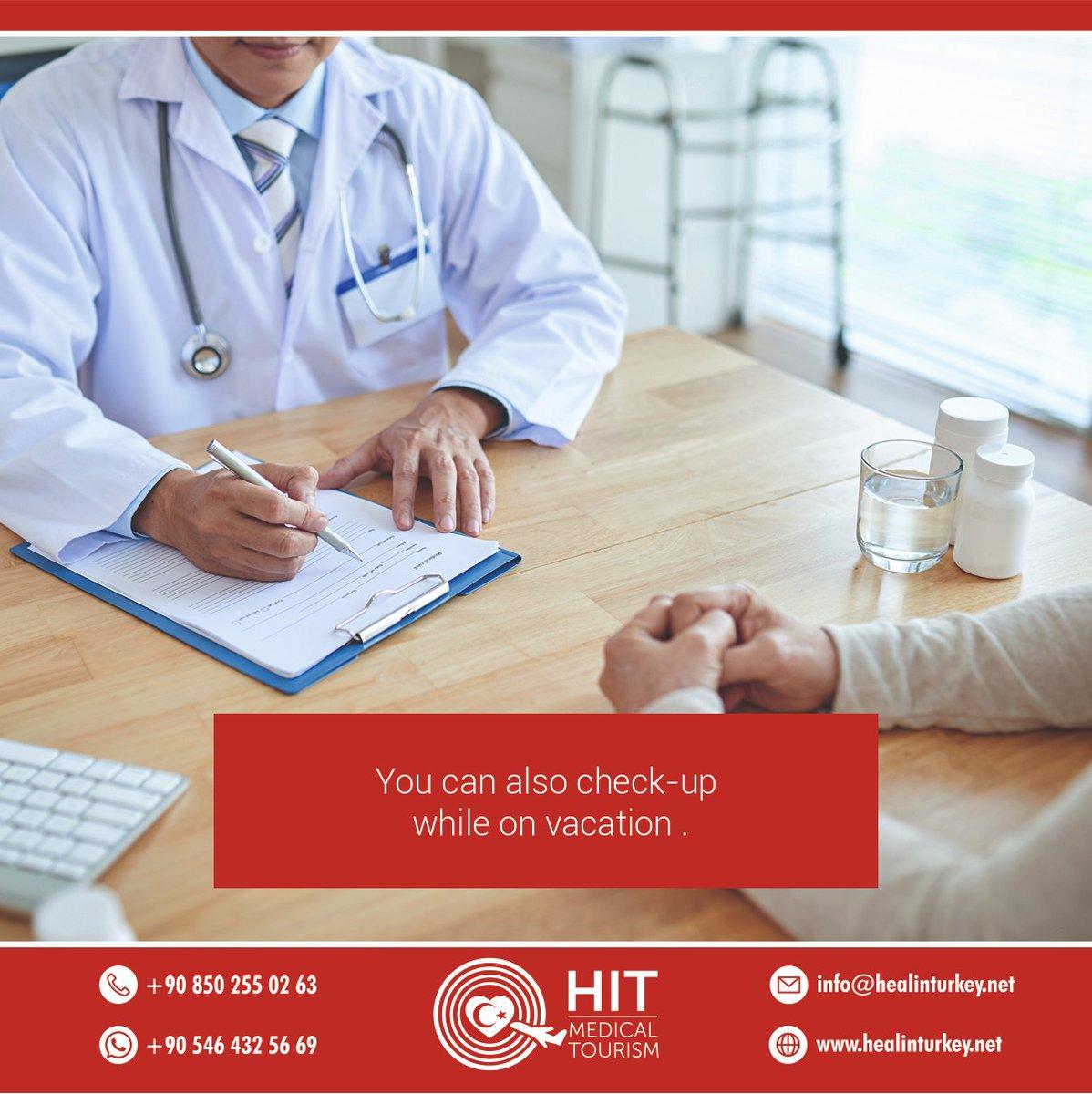 You can also check-up while on vacation .  #turkey #visitturkey #healthtourismturkey #turkeytravel #hairtransplant #cancercare #plasticsurgery #aestheticsurgery #nosejob #obesitysurgery #orthopedics #gammaknife #dentalturkey #implantturkey #dsd #digitalsmiledesign pic.twitter.com/jxDAipuokD