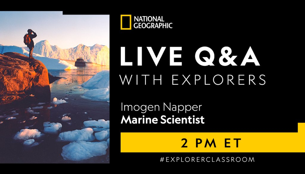Can you name a few unexpected things you may find in the ocean? 🌊 Biodegradable plastics and facial scrubs are just a few. Learn how you can combat plastic pollution from home in today's #ExplorerClassroom session at 2PM ET. https://t.co/SMRyVbnZQq https://t.co/qAmIo1XM1v