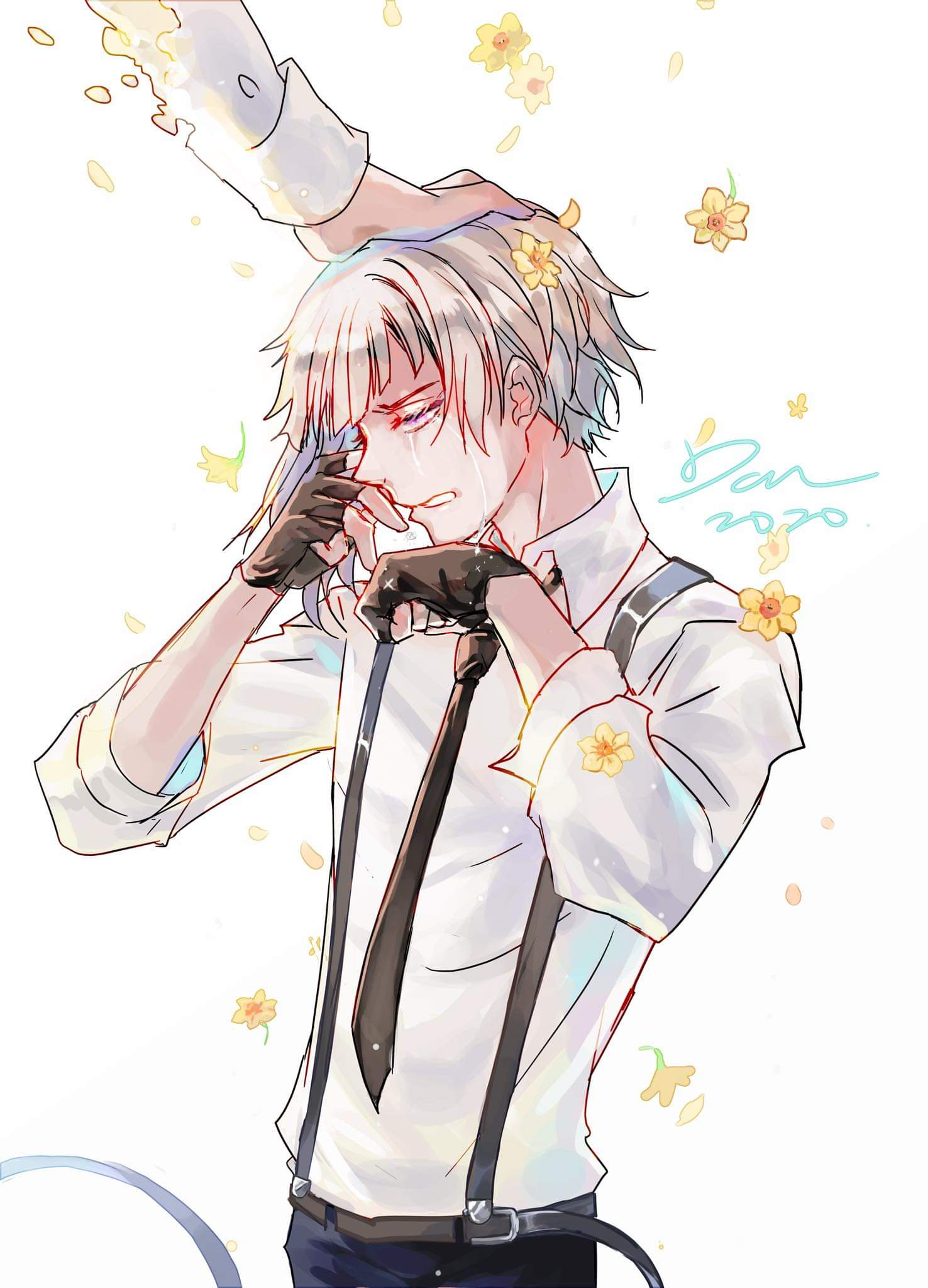 Dark I Wanna Be A French Fry On Twitter Happy Belated Birthday Atsushi You Ochazuke Loving Tiger I Think His Headmaster Wanted To Both Apologize And Congratulate Him That S Why He Initially