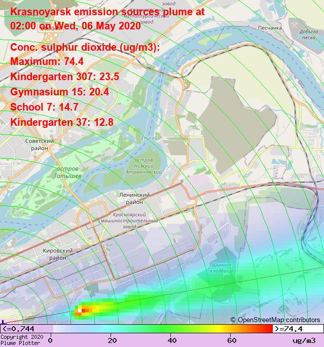 New maps have been added to the #Krasnoyarsk plume plotter, including downwind maps like this one! https://plumeplotter.com/krasnoyarsk/ #красноярск  pic.twitter.com/NzhOw1RQP6