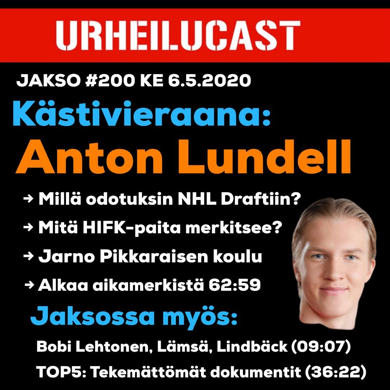 Viikon keskimmäinen jakso ohessa. Vieraana Anton Lundell. Spotify ⏯ open.spotify.com/episode/4RyKgn…