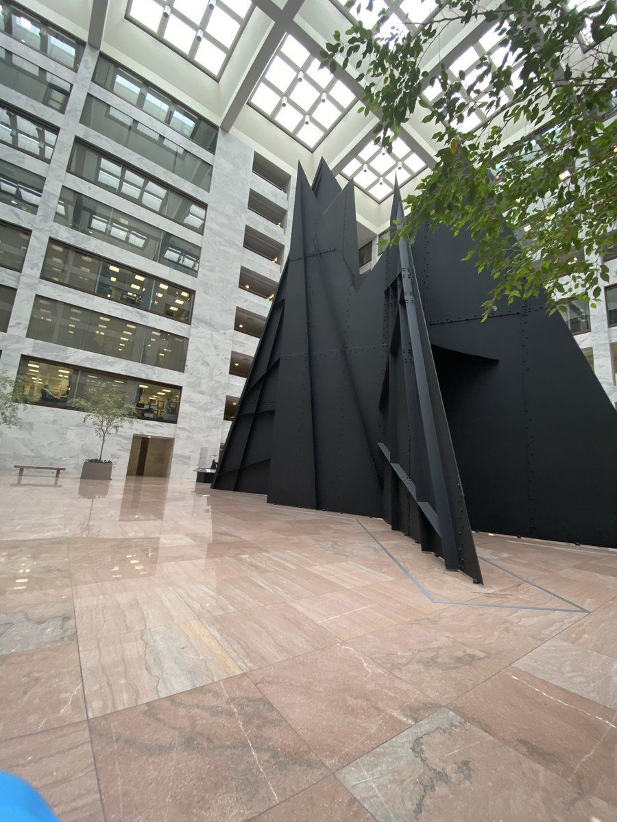 @DougAndres Hart pressers should be on the atrium level with the Calder sculpture in the background!
