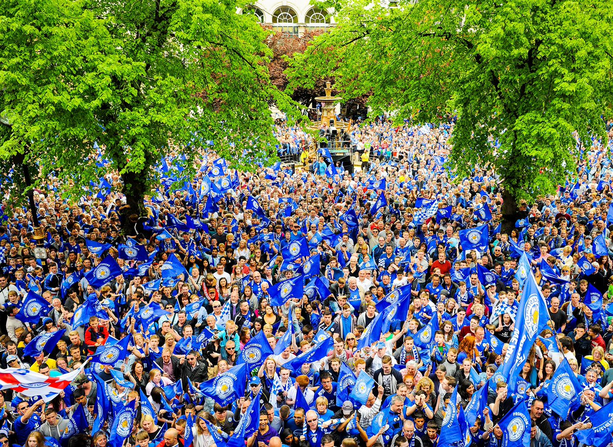 Can you spot yourself or anyone you know #onthisday 2014. Photo overlooking Leicester's Town Hall Square  #LCFC #wheredoestimego #6yearsagopic.twitter.com/j5EIzQgOmx