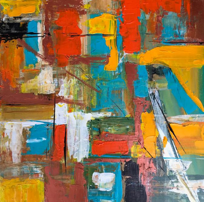 Anita Stein, 'Untitled'  Acrylic on canvas  #acrylicpainting #acrylicpaintings #abstractartist #abstractpainting #contemporaryartist #colourfulpainting #colourpoppaintingpic.twitter.com/888IusSvDN