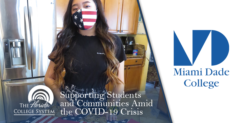 Florida Department Of Education On Twitter Olivia Mcateer A Fashiondesign Student At Mdcollege Miami Fashion Institute Made And Donated Face Masks To Local Usps And Health Care Workers Fledu 1system1mission Covid19 Richardcorcoran