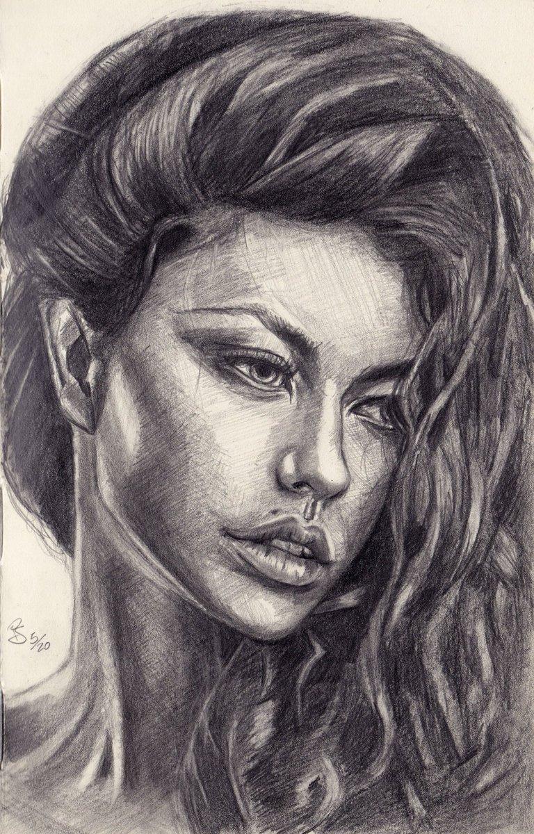 #graphite #pencil #portrait on #paper  photo ref by Aleksandr Doodko  #art #handdrawn #handdrawnart #teamdli  #pencildrawing #graphitedrawing #artist #iloveart #drawsomethingshowcase #united_artists_art_pic.twitter.com/20bsJaxi5D