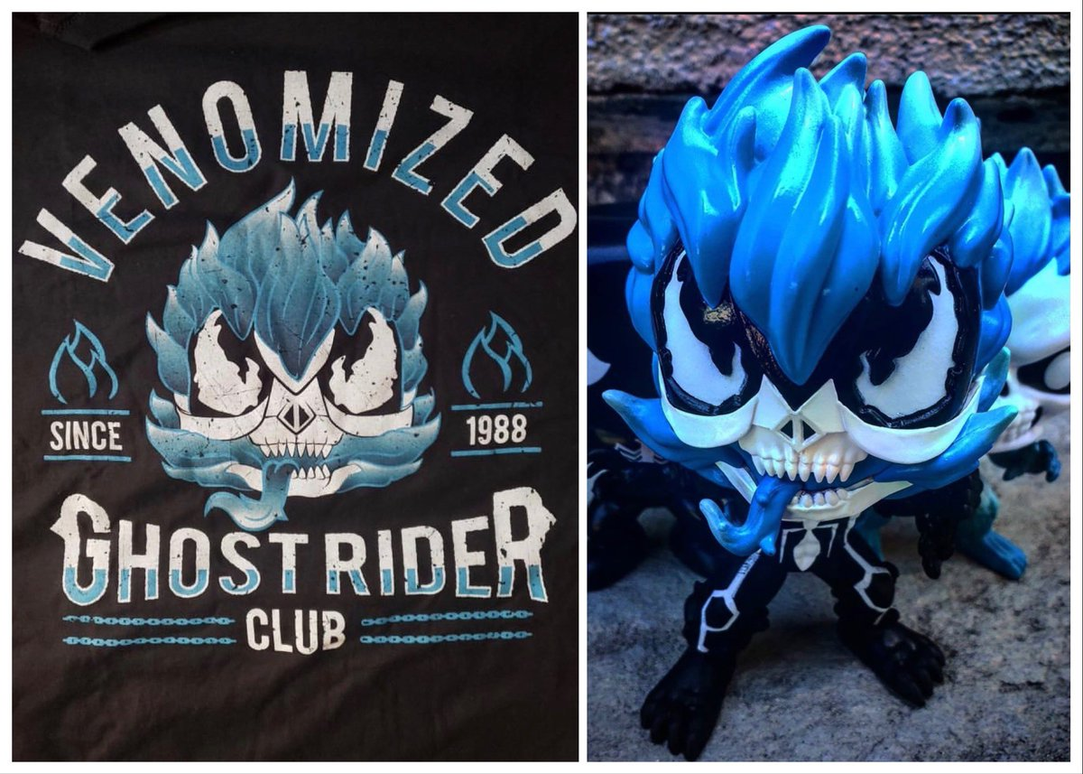Venomized Ghost Rider Blue Pop and tee Funko MArvel