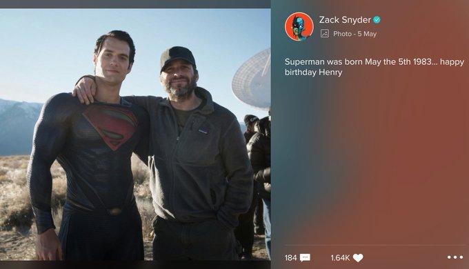 Still all love Zack Snyder wishes Henry Cavill a Happy Birthday