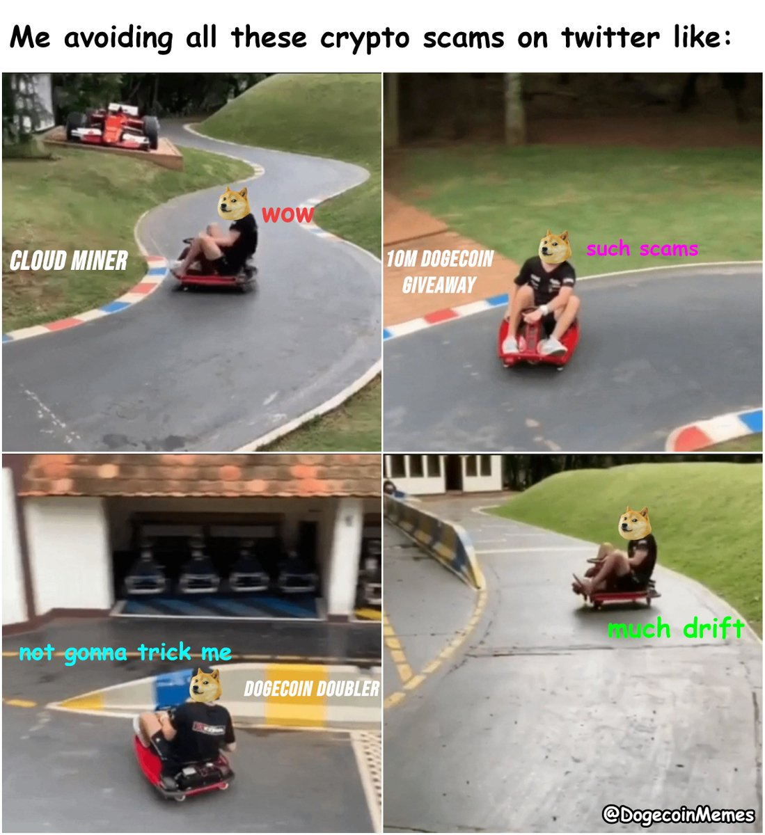 #Dogecoin #memes #crypto #cryptocurrency #doge #tothemoon #wow #moonsoon #dogecoinmoon #thegoodstuff #muchfunny #suchmemes #happydoge #moon #buymoredoge #avoiding #scams #cloudmining #giveaway #double #staysafe