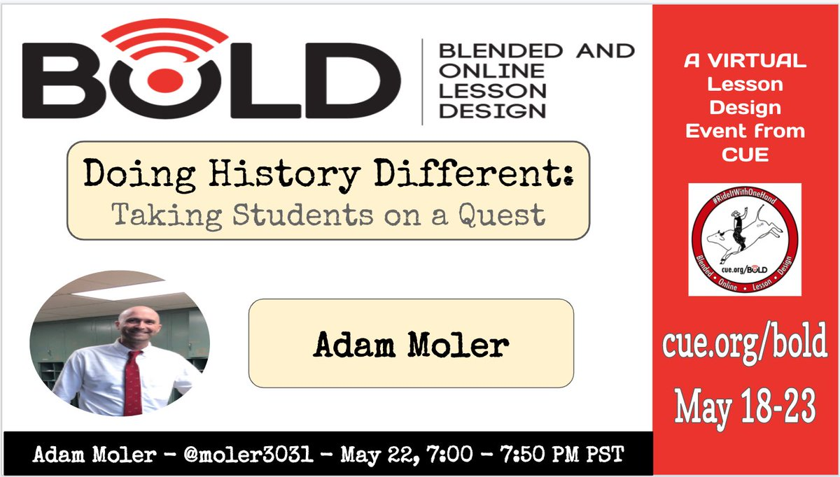 Excited to present about teaching social studies creatively through quests. #eduprotocols #cue #sstlap