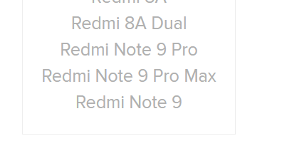 Redmi Note 9 Listed on Xiaomi RF EXposure Page for India