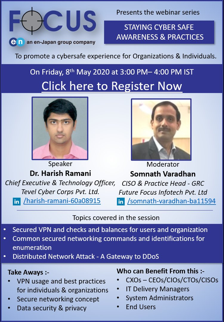test Twitter Media - If you learnt all about Home Router Security Configuration and Keyloggers in the last Webinar session, join in for the Next Session on Secure VPN and Data Security.  Here's the link:   https://t.co/BBb1RRRWUj  #cybersecurity #security #datasecurity #infosec #informationsecurity https://t.co/nPIStcRbyc