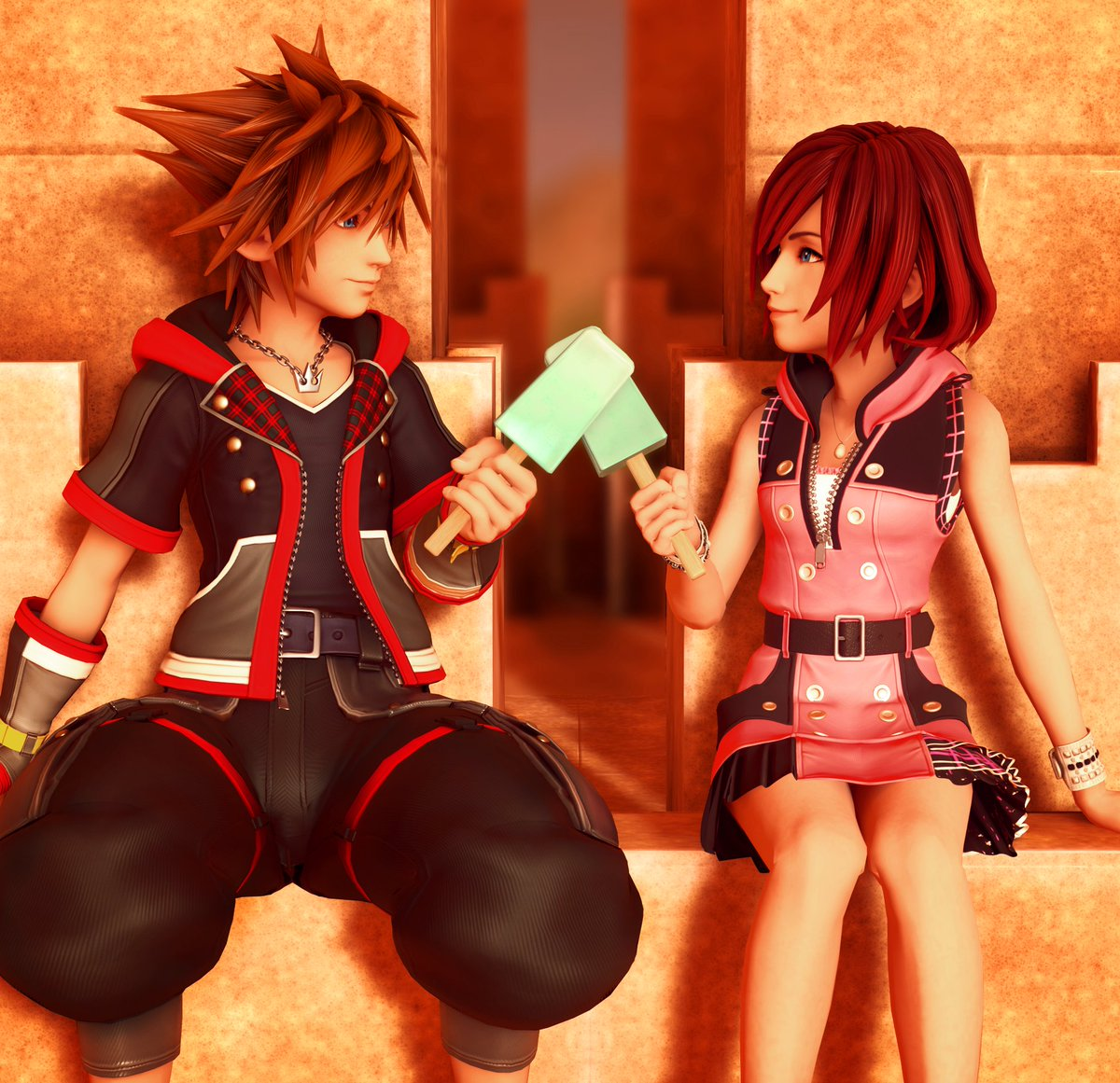 Sora and kairi in bed naked