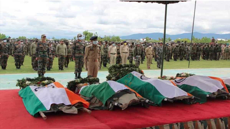 My Salute to Handwara Shaheeds & their families. Col Ashutosh Sharma, Maj Anuj Sood, Naik Rajesh, Lance Naik Dinesh, Sub-Inspector Shakeel Qazi & CRPF Constables Ashwani Yadav, C. Chandrasekhar & Santosh Mishra. Defence/Paramilitary Forces, I am safe only because of you. Jai Hind https://t.co/V5lVGNUshO