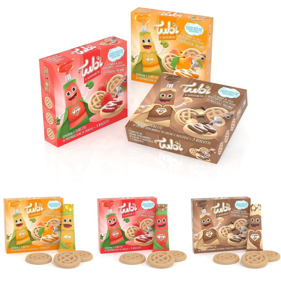 Discover the new Favia's food packaging project: the new Tubì by http://Dreama.it , jam or cream in aluminium tubes+biscuits = the perfect snack in a box. The exclusive Favia's ToBeUnique digital printing method gives unique design results.  (pic. by Dreama). pic.twitter.com/g0YEVb9p29