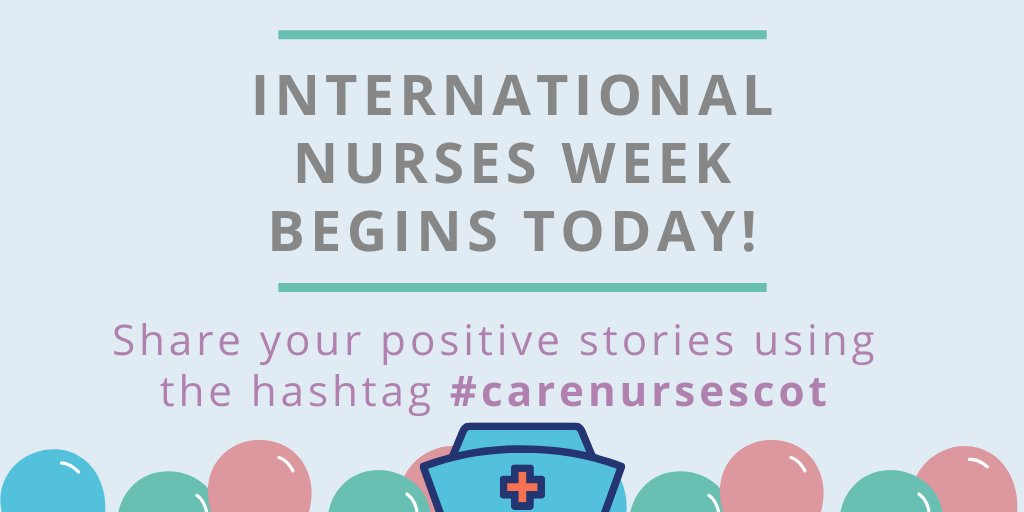 International #NursesWeek begins today! @scottishcare will be marking this week by sharing #compassionate stories to recognise the work that all our nurses & care staff do, which is especially important during these difficult times. Share your stories with hashtag #carenursescot.