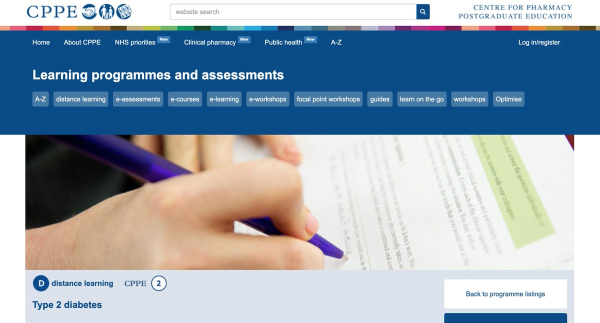 Looking for #pre-reg resources? Social distancing may require you to be flexible and creative with your learning. Our distance-learning version of our Type 2 diabetes focal point is an excellent resource to run online. Check it out, here: http://www.cppe.ac.uk/programmes/l/t2diab-p-01…pic.twitter.com/gJ9V6P6731