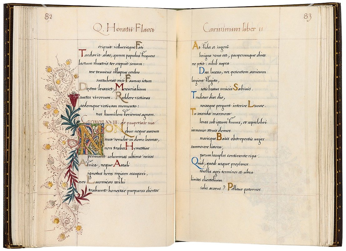 William Morris' handmade Odes of Horace in the Bodleian Library (Lat. class. e.38) #Pre-Raphaelites #MuseumsUnlockedpic.twitter.com/z7ASxxaUMf