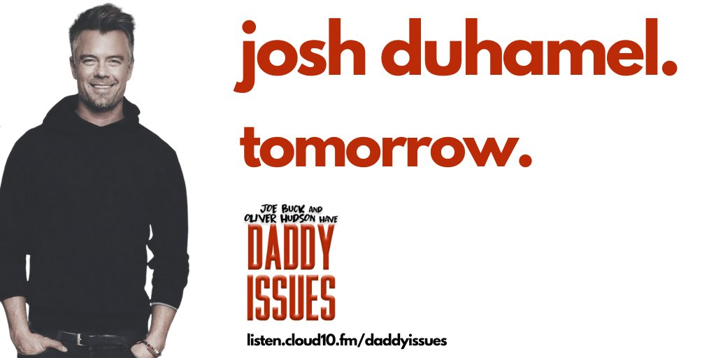 Our friend @joshduhamel drops by tomorrow for a chat. It's great. But would I say if it wasn't? But it IS great.