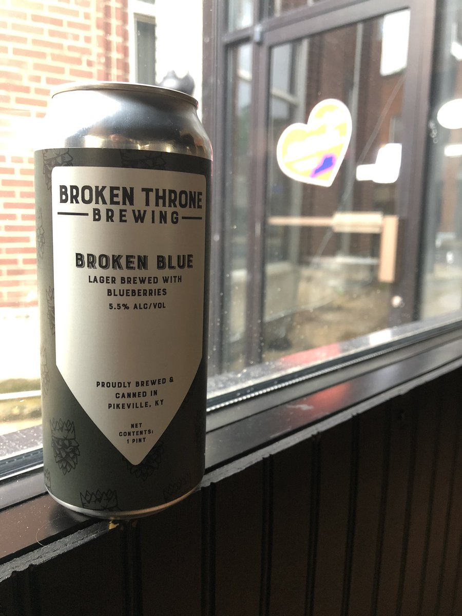Weather got you feeling blue? Same...kinda. Introducing Broken Blue, our new lager brewed with blueberries. Pick up a 4 pack today, along with our other canned brews. Available today between 5:30-8. #gobigblue #forthethrone <br>http://pic.twitter.com/px8g9tcI45