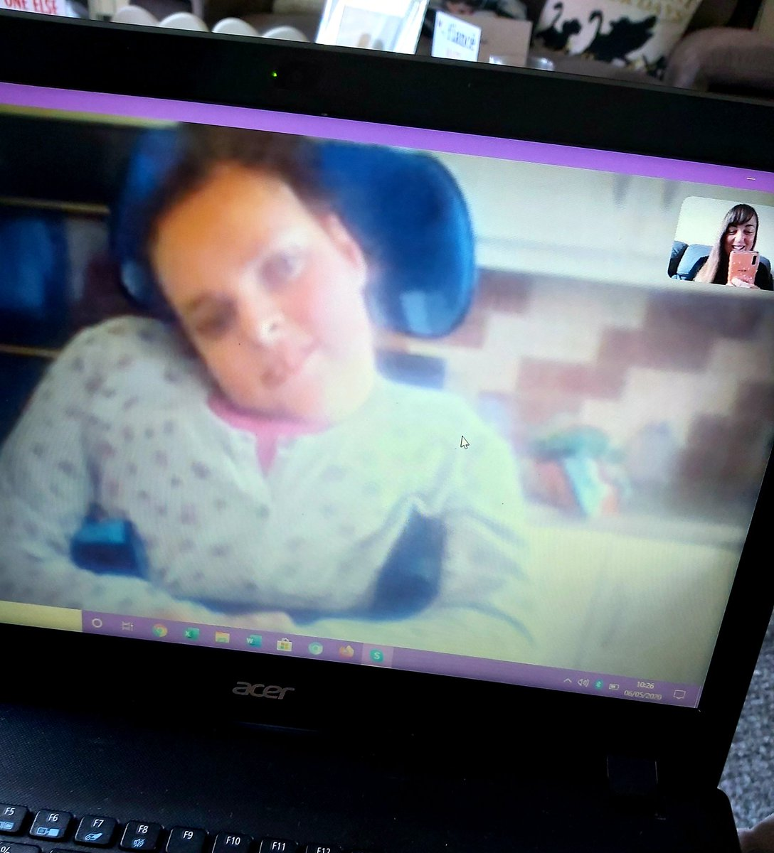 Occupational balance can be tricky when working from home 5 days a week so I took half an hour out of my work schedule to skype the most important person in my life 💞 it helped to give me some balance back (despite missing her terribly) #OccupationalTherapist #StayHome