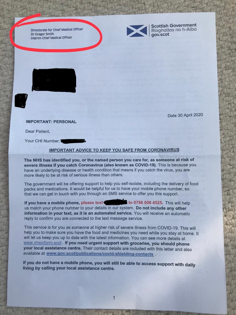 Heart Scotland News On Twitter The Scotgov Has Begun Sending Out Updated Letters To People In The Coronavirus Shielding Category Now Including Date They Should Shield Until Instead Of 12 Weeks From