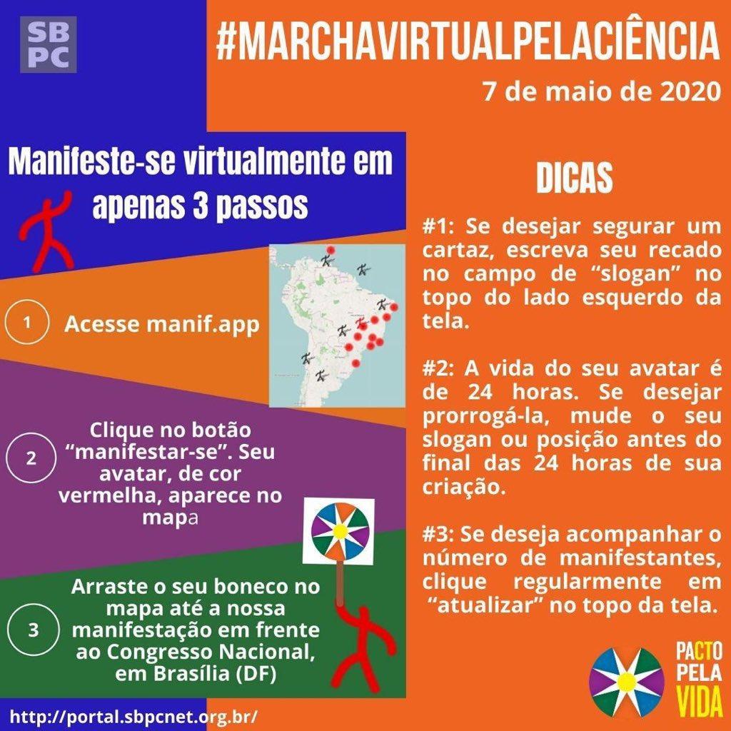 ⚡️ PARTICIPE!  ⚡️ Você pode se manifestar virtualmente, basta seguir os passos abaixo.  📲 ACESSE:   #MarcaVirtualPelaCiencia #PactoPelaVida #FiqueEmCasaComACiencia #ufpi #minhaufpi