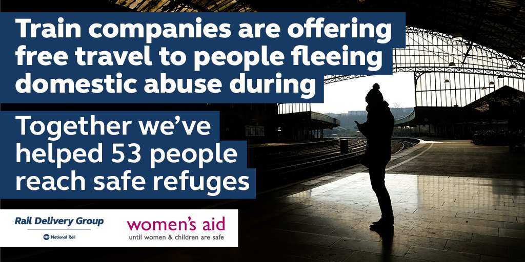 The Rail to refuge scheme, which helps survivors travel to refuge for free, is available nationwide during #Covid19. It removes the financial barrier to leaving, making the crucial step more accessible to women.   Read more in @guardian's updates here:   https://t.co/gIHD5tiLIQ https://t.co/mK9f0BRvSX