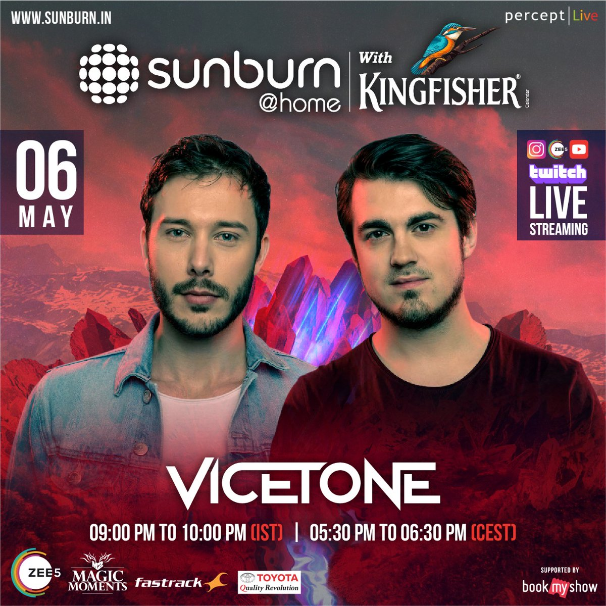 Check out our set at 9pm IST - via twitch.tv/sunburnfestival and other @SunburnFestival platforms #SunburnAtHome