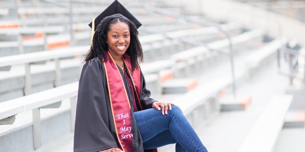 VT First-Gen Graduate Spotlight:  Today, @vt1stgen celebrates senior Alyssa Smith on her graduation from Virginia Tech!! Alyssa is a Psychology major. We are so proud of you!! Help us congratulate @alyssars7 on her graduation! #VTFirstGenGraduate #CelebrateFirstGen