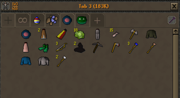 Made my gf open 12 beginner clues on my F2P HC, she got extra monk bottoms, 1 frog slippers and sandwich lady bottoms, told her it was a good job, she was happy. This is around 20 beginner clues then on the account https://t.co/krIwn5Xj9B