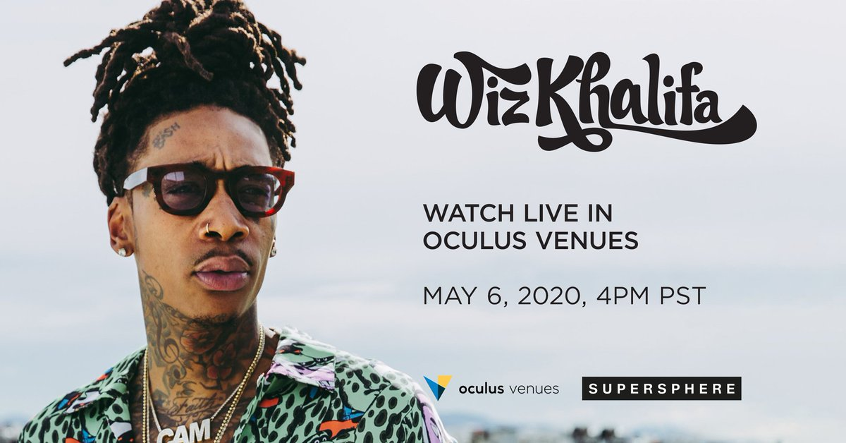 Today is the day. Roll up and check out new music, a fan Q&A and more from @wizkhalifa , live from his crib on @oculus Venues. Dont sleep - the show starts at 4PM PT. #taylorgang #superspherevr #VR #oculusvenues ocul.us/wiz-khalifa