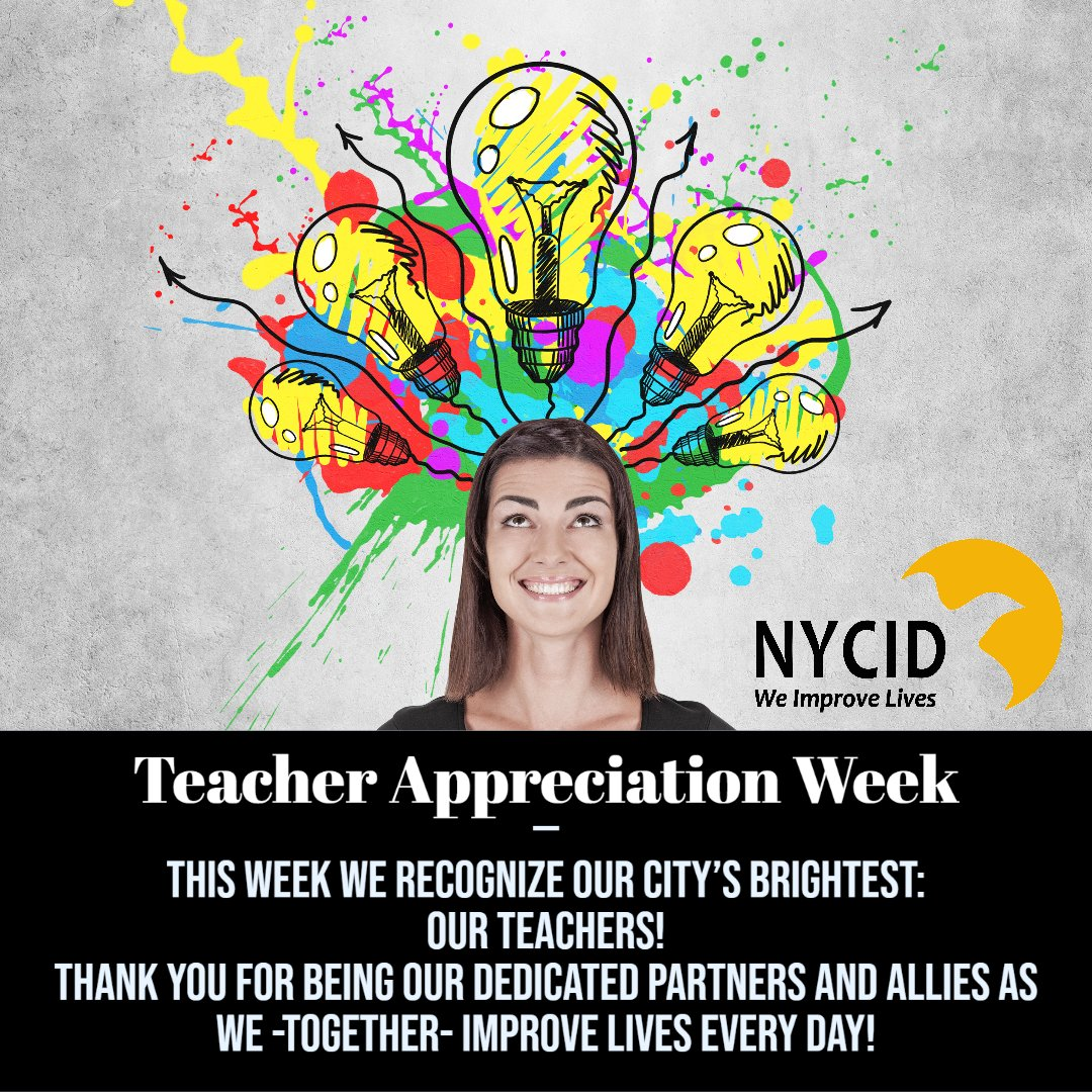 This week we recognize our city's brightest: our teachers! Thank you for being our dedicated partners and allies as we -together- improve lives every day!  #WeImproveLives #ThankATeacher #TeacherAppreciationWeek2020 https://t.co/abpHUMKjqd