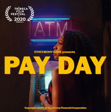 """Pay Day, a Synchrony Bank original film, was honored by Tribeca X as """"Best Short"""" Watch it at https://t.co/8HGgGAPxVC https://t.co/YHgW78Q8EQ"""