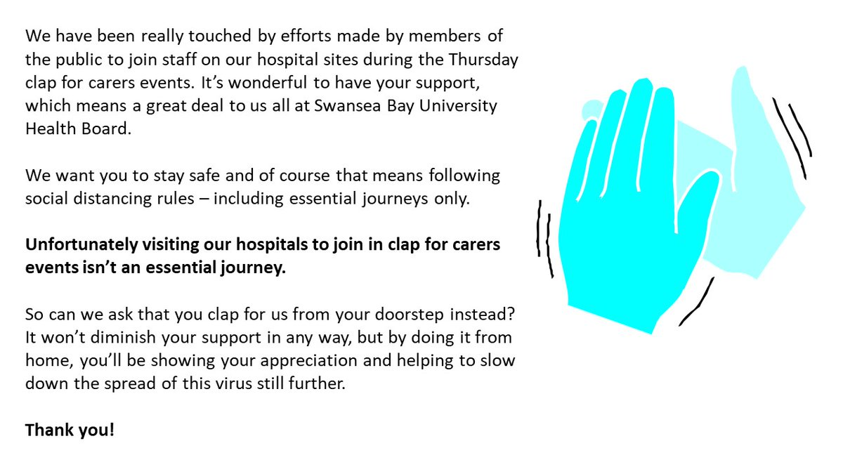 #ClapForOurCarers - An important message ahead of Thursday's event.