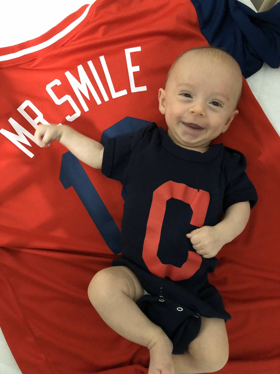 I think there's a legitimate debate between who the real Mr. Smile is....regardless, @mckenicole , twitterless Holden and myself are ready for opening day with @Lindor12BC and our @Indians https://t.co/NW5DQTkoud
