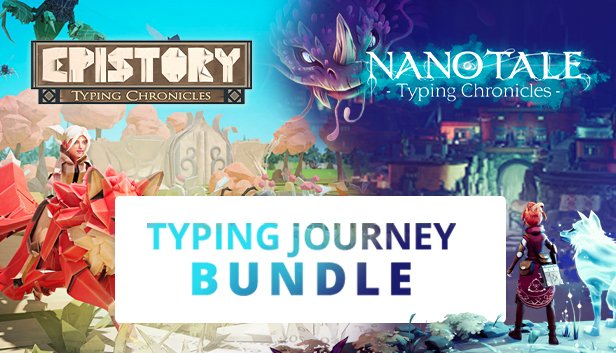 Our Typing Journey Bundle is the Daily Deal on @Steam for 24 hours. We are so happy to get this featuring for two beautiful games developed by our partner @FishingCactus:  Epistory (@epistorygame) and Nanotale (@nanotalegame). #TeamPlugInPC https://t.co/EkF4UO9iwJ