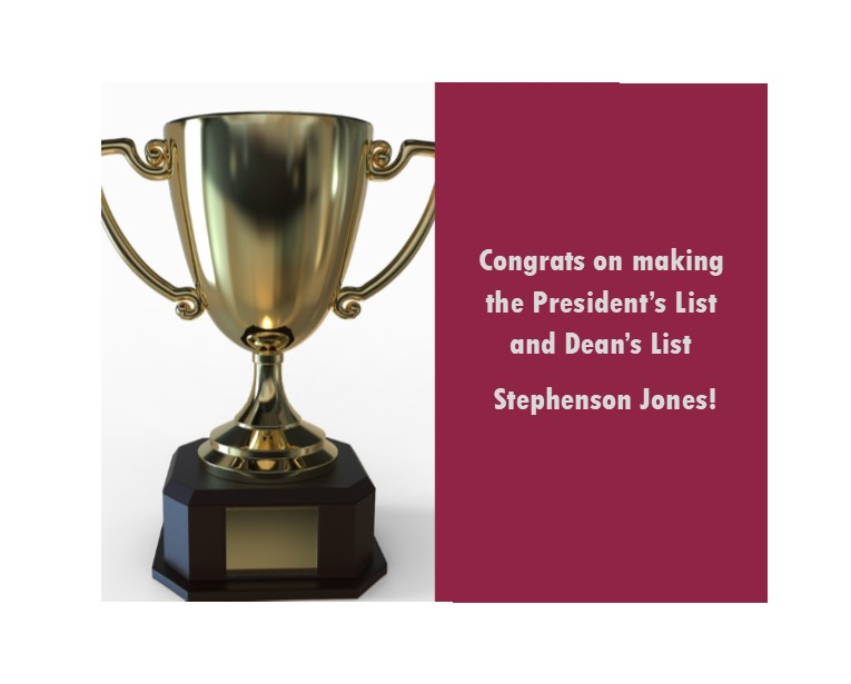 Congrats to @SteveJo84509343 Stephenson Jones, an #EKU #CRJ #PLS student at our @EKUVirginiaSite for his placement on the #fall2019 President's and Dean's List. Keep up the great work Stephenson!