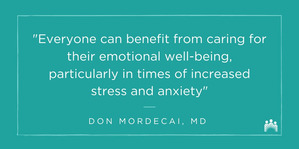 It's #MentalHealthMonth, and the perfect time to remember to take care of ourselves and support others. Practicing #selfcare and connecting with loved ones can improve our emotional well-being. Explore these resources that benefit the mind, body + spirit. https://t.co/2rIMukxScA https://t.co/ABSnTPpfUC