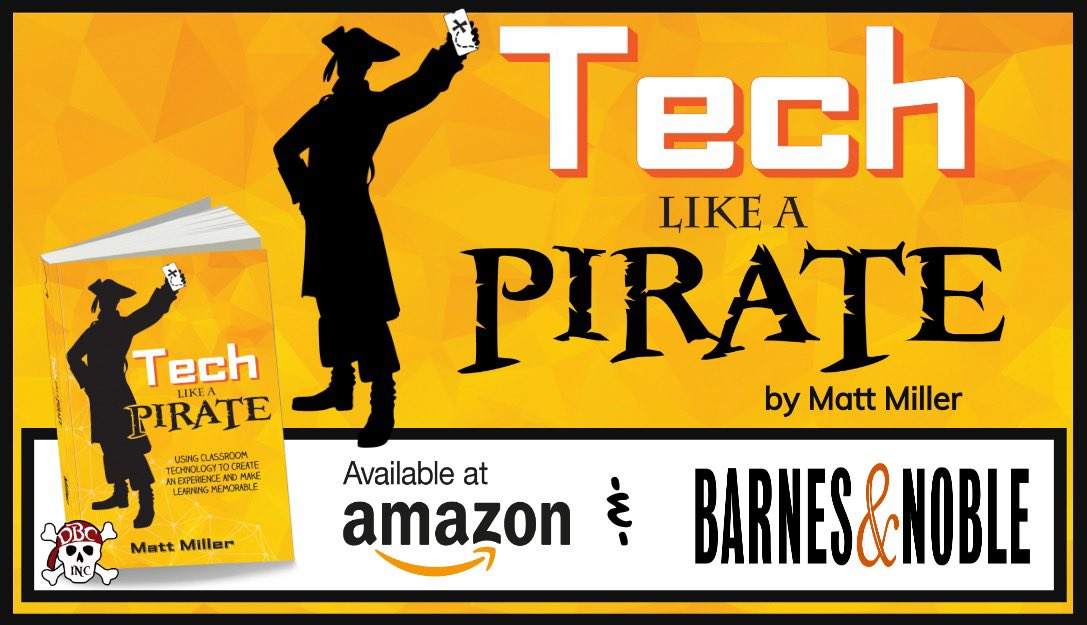 Its HERE!!! 📙 Tech Like a PIRATE by is OUT! 7 ways to use technology to make learning 🔥 a MEMORABLE EXPERIENCE🔥 👉Get your copy on Amazon: tinyurl.com/techlapbook #DitchBook #tlap #TechLAP #dbcincbooks #LeadLAP