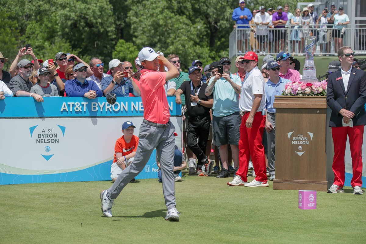 #TBT to 2019 @attbyronnelson... until we can do it again in 2021, tune in to @golfchannel Thursday and Friday, @CBSSports Saturday and Sunday to watch the past few tournaments!! #ATTAthlete #ConnectedTogether https://t.co/6NWmEdP95c