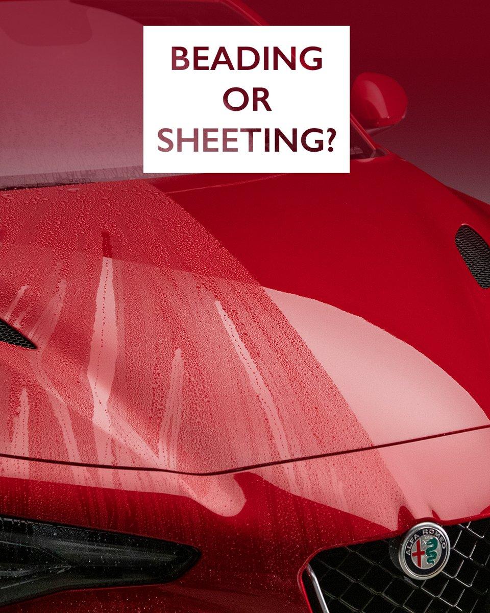 What do you prefer? 🤔  #autoglym #carcare #waterbeading #watersheeting #carcleaning  #detailing #carwash #cleancar #dirtycar #cardetailing #detailingworld https://t.co/uniadWOhww