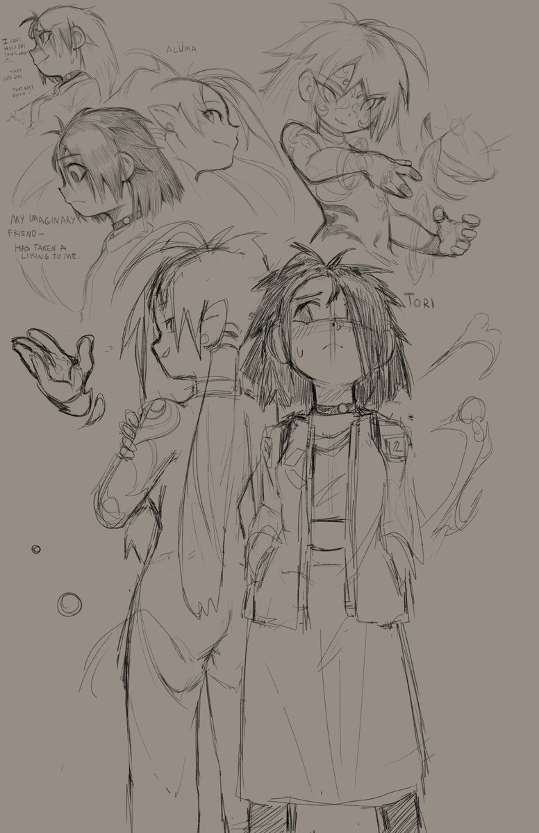 #Sketches from sometime last week. Slightly sad existential feels one of them lol