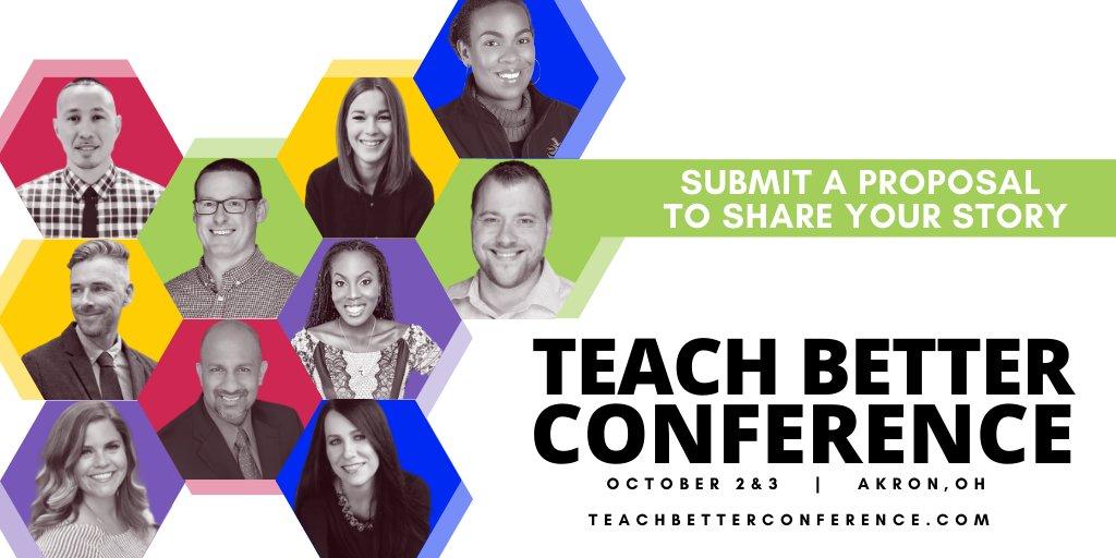 Remember, proposals are open and we want to hear your story!   @AllysonApsey @JorgeDoesPBL @realrapreynolds @drneilgupta @jmattmiller @sarahdateechur @Rdene915 @jeffgargas @RaeHughart @chadostrowski #TeachBetter #TeachBetter20 #TeachBetter19 #TLAP