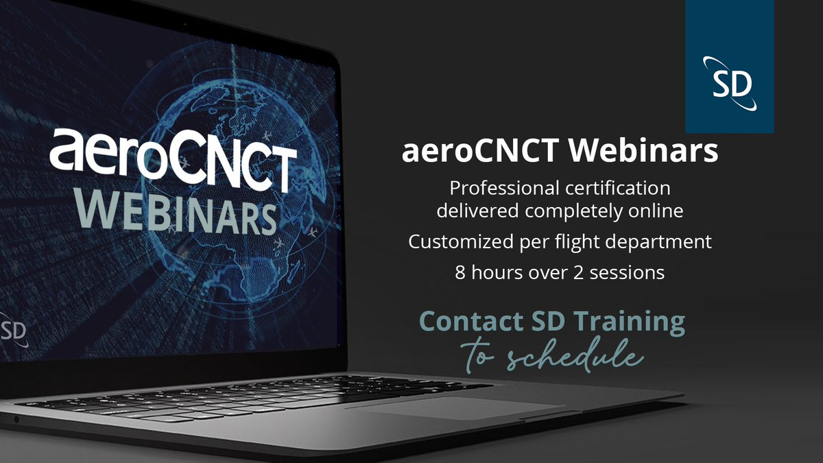 SD Training is now offering the opportunity to become aeroCNCT certified completely online with our aeroCNCT Webinars! Contact SD Training at training@satcomdirect.com today to schedule your aeroCNCT Webinar! https://t.co/pz3D66HDR7