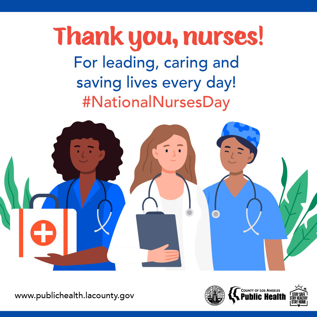 Thank you, nurses for leading, caring and saving lives every day! #NationalNursesDay